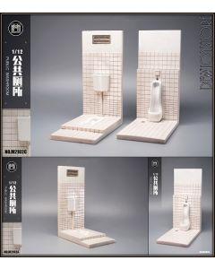 [Pre-order] MMMtoys 1/12 Scale Action Figure Toy Diorama Display - M2102 Public Washroom / Toilet (M2102A Squat / M2102B Urinal)