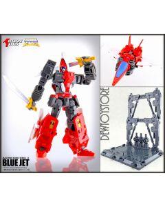[IN STOCK] Action Toys Transforming Robot Die-cast Chogokin Action Figure - Machine Robo 11 Blue Jet Robo